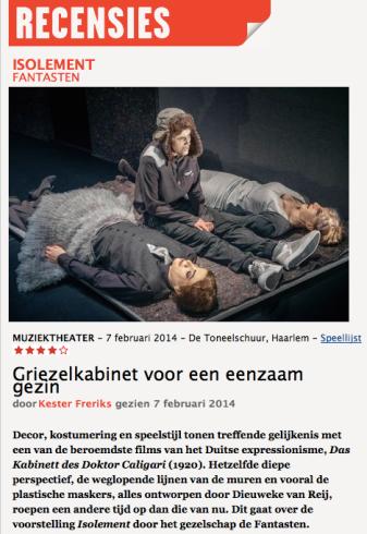 Recensie Kester Freriks, theaterkrant.nl